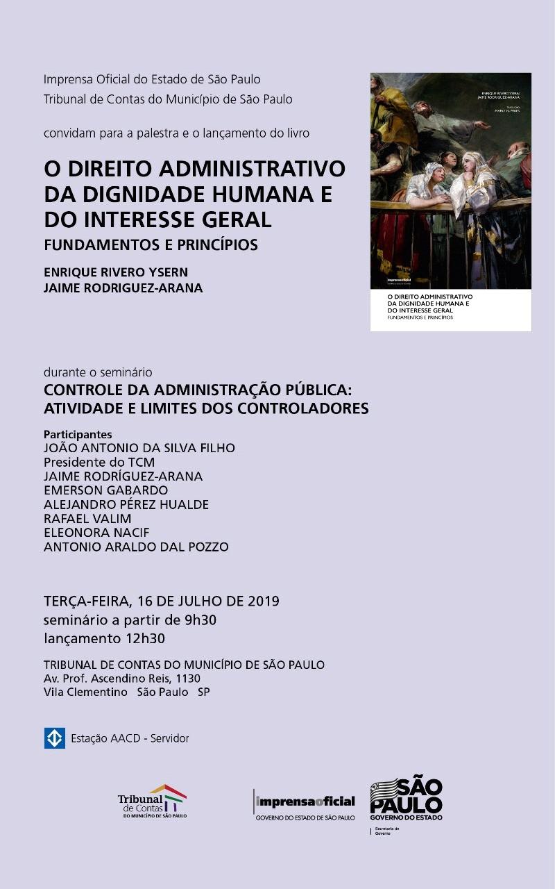 """Presentación del libro: """"El Derecho administrativo de la dignidad humana y del interés general"""""""